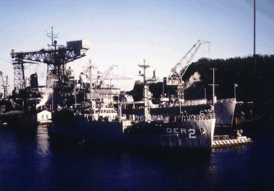The USS Pueblo (AGR-2) in Yokosuka